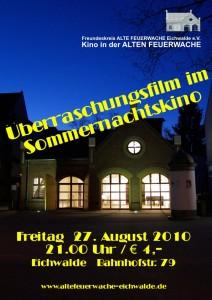 Plakat zum Sommernachtskino