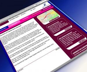 Bildschirmfoto der Website der Deutschen Flugsicherung.