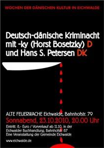 Plakat zur Deutsch-dänischen Kriminacht (Grafik: Burkhard Fritz)