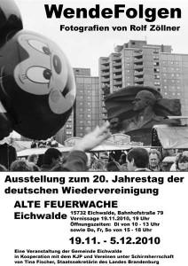 Plakat zur Ausstellung zum 20. Jahrestag der Wende.