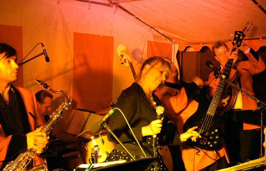 Die Berlin Rock'n Rollers sorgten gestern Nacht für ausgelassene Party-Stimmung. (Foto: Jörg Levermann)