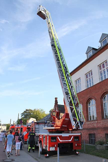 Drehleiterwagen der Freiwilligen Feuerwehr Eichwalde. (Foto: Jörg Levermann)