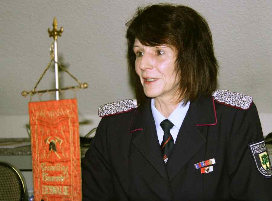 Elke Thoms, Wehrleiterin der Freiwilligen Feuerwehr. (Foto: Jörg Levermann)