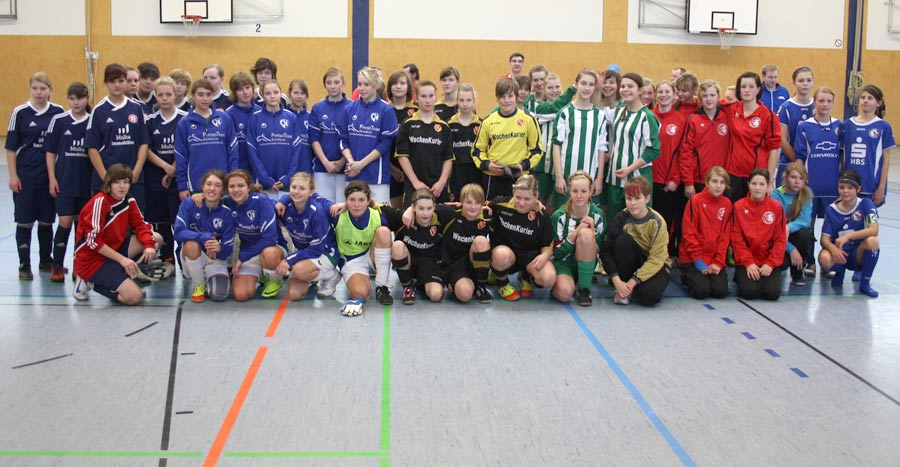 Insgesamt 18 Mannschaften spielten am vergangenen Sonnabend in der Sporthalle des Gymnasiums Eichwalde. (Foto: Heiko Melzer)