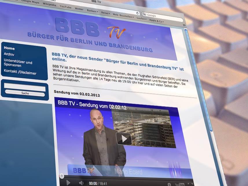 Seit gestern auf Sendung: BBB TV – Bürger für Berlin und Brandenburg.