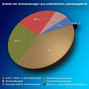 Anteile der vorgesehenen Aufwendungen im Jahr 2012. (Grafik: Jörg Levermann)