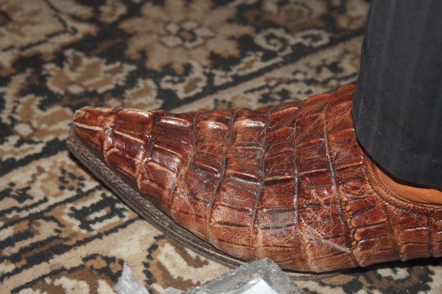 Kroko-Lederner Blues-Stiefel. (Foto: Jörg Levermann)