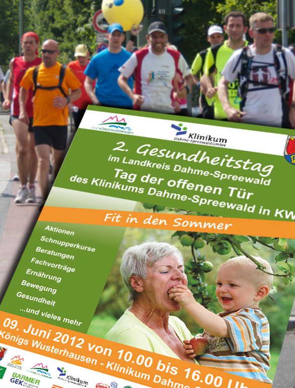 Am 9. Juni findet zum zweiten Mal der Gesundheitstag am Achenbach Krankenhaus in Königs Wusterhausen statt. (Montage: Jörg Levermann)