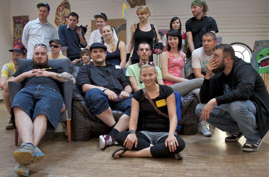 Junge Menschen machen Kunst. Ihre Werke zeigten sie am vergangenen Wochenende im Jugendhaus Königsstadt in Berlin-Pankow. (Foto: Jörg Levermann)