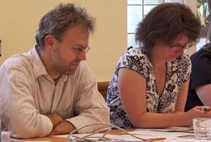 Für beschlussreif hielten Sven Moch und Britta Arnold (beide WIE) die neue Gebührensatzung für Krippe, Kita und Hort. (Foto: Jörg Levermann)