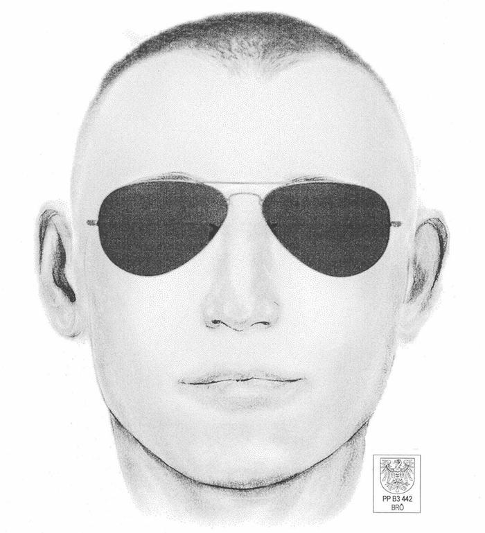 Phantombild des unbekannten Tatverdächtigen. (Foto: Polizei Brandenburg)