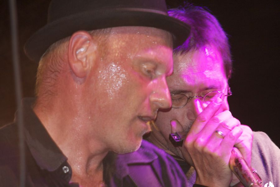 Blues ist Kommunikation. Doc Moan und Speiche. (Foto: Jörg Levermann)