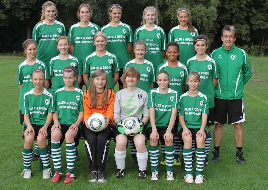 Mädchen-Mannschaft des SV Schmöckwitz-Eichwalde. (Foto: SV Schmöckwitz Eichwalde)