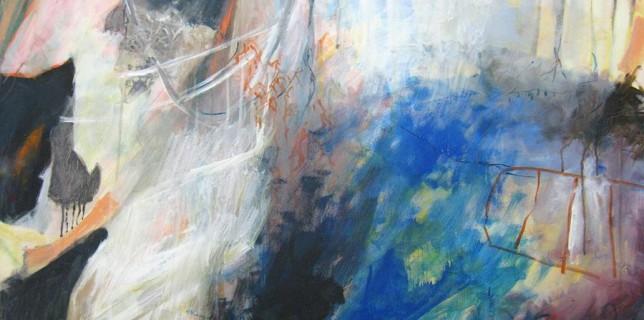 Vor Ort. So lautet der Titel dieses Gemäldes von Brigitte Loschert. (Foto: Loschert)