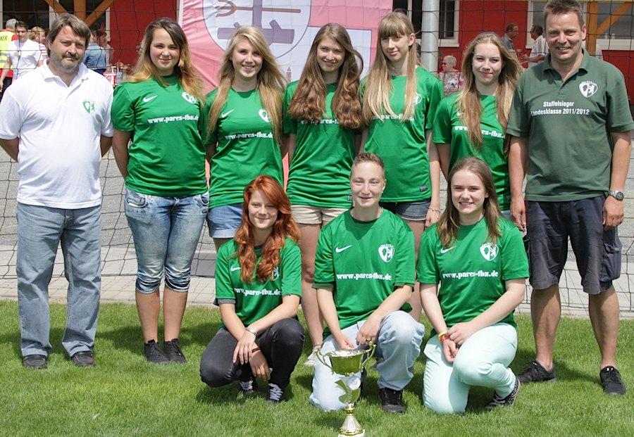 Ein Starkes Team: die Mädchenmannschaft des SV Eichwalde-Schmöckwitz. (Foto: Jochen Keutel)