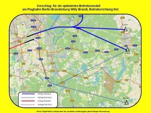 Vorschläge von Marcel Hoffmann bei Starts Richtung Osten. (Grafik: Marcel Hoffmann mit Kartenmaterial von Open Streetmap)