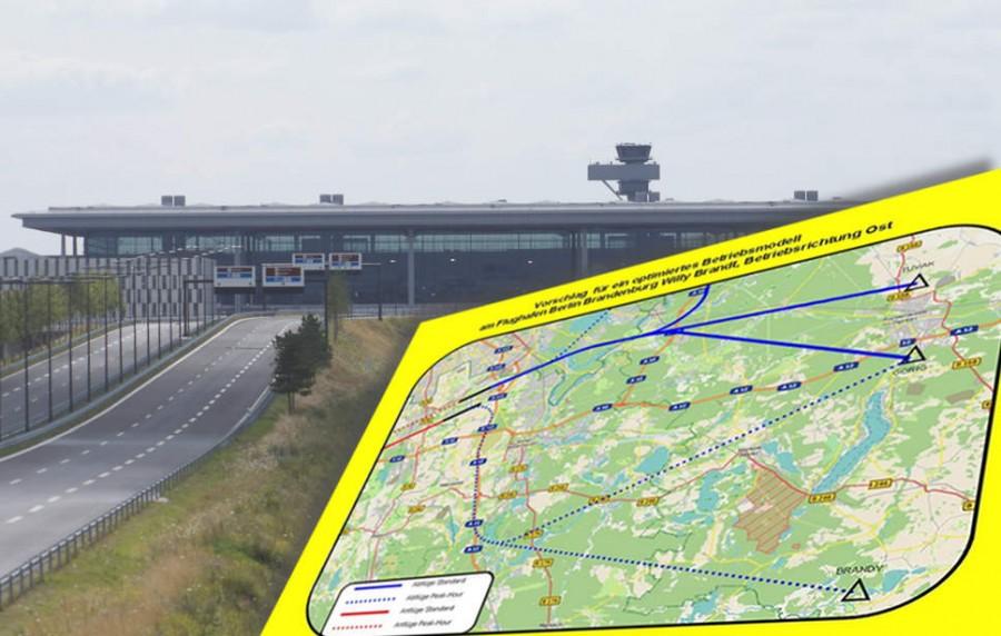 Deutliche Entlastung vor allem für Menschen in Blankenfelde-Mahlow könnten die Vorschläge für neue Flugverfahren bringen, die Marcel Hoffmann an die Mitglieder der Fluglärmkommission sendete. (Montage: Jörg Levermann)
