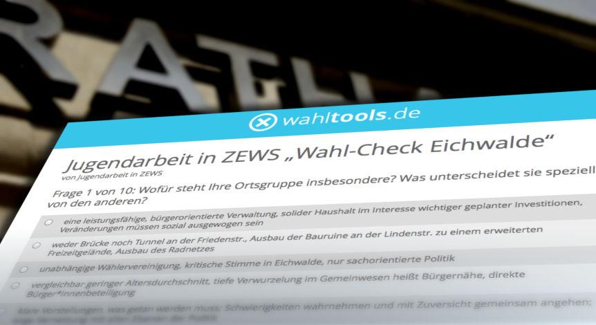 Im Vorfeld der Gespräche zwischen jungen Wählerinnen und Wählern mit Lokalpolitikern, beantworteten fast alle Parteien in Eichwalde einen Fragebogen. (Montage: Jörg Levermann)