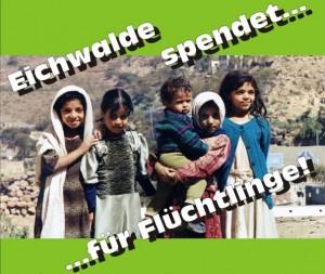 Die Gemeinde und der DRK Kreisverband Fläming-Spreewald sammeln am 26. September 2015 Sachspenden für Flüchtlinge in Eichwalde und Zeuthen.