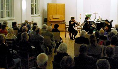 Erneut zu Gast in Eichwalde: Das Kammermusikensemble von Memorial Sankt Petersburg. (Foto: Burkhard Fritz)